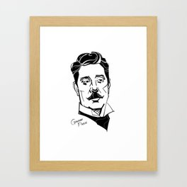 Giacomo Puccini Framed Art Print