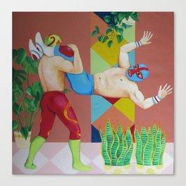 Huracanrana in the greenhouse Canvas Print