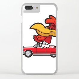 Rolling Rooster Clear iPhone Case
