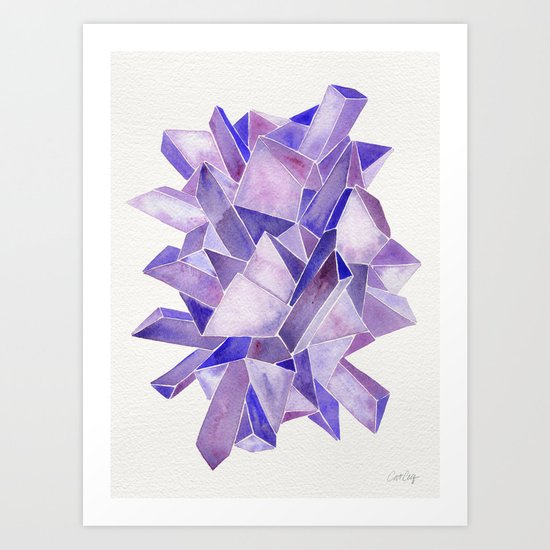 Amethyst Watercolor Art Print