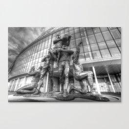 Rugby League Legends statue Wembley stadium Canvas Print