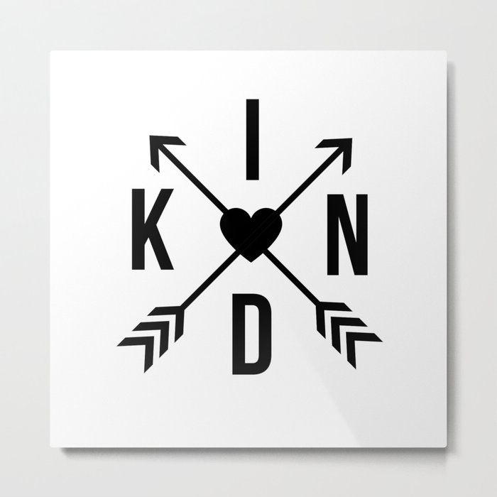 Kind with Arrows Metal Print