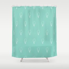 Vector Seamless Pattern Ice Cream Cones Shower Curtain