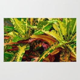 Tropical Croton Plant Rug