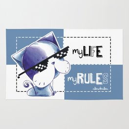 MY LIFE, MY RULES Rug