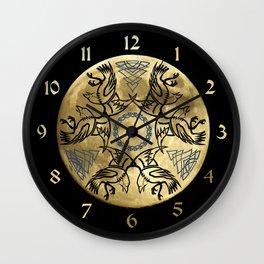 Huginn & Muninn triskele Wall Clock