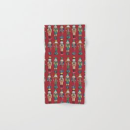 The Nutcracker Prince Pattern Red Hand & Bath Towel