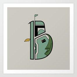 B is for Boba Fett Art Print