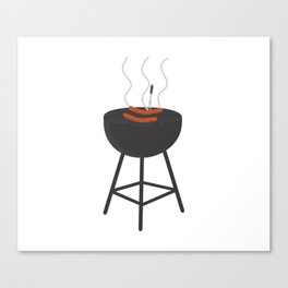 BBQ with sausages Canvas Print