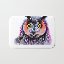 Long eared owl Bath Mat