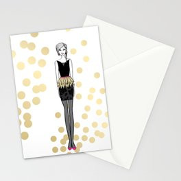 Golden Feathers Stationery Cards