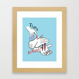 ASL Time for School Framed Art Print