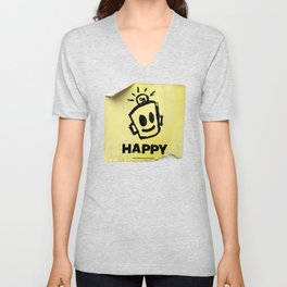 The Happy Sticker Unisex V-Neck