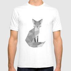Fox White Mens Fitted Tee MEDIUM