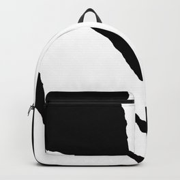 Green Fern White and Black Backpack