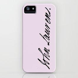 John Laurens Signature iPhone Case