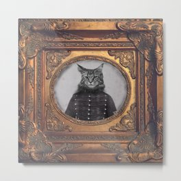 hussard cat Metal Print