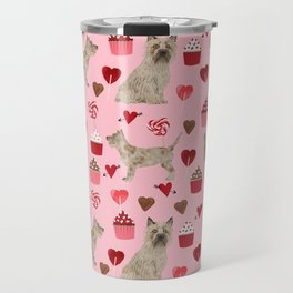 Cairn Terrier dog breed valentines day love pet dog person valentine by pet friendly Travel Mug