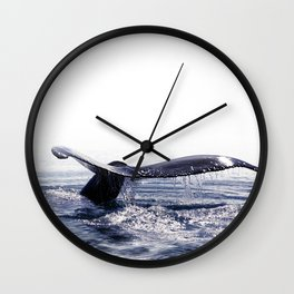 WHALE SONG 1 - DEEP DIVE Wall Clock