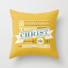 Philippians 4:13 Throw Pillow