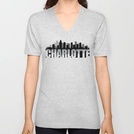Charlotte Silhouette Skyline Unisex V-Neck