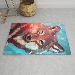 Wolf - Stare - Wanderlust Rug