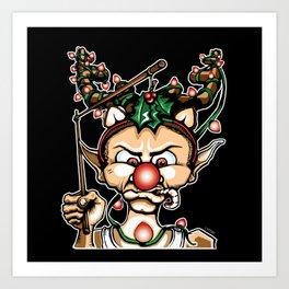 Grumpy Elf (Color) Art Print