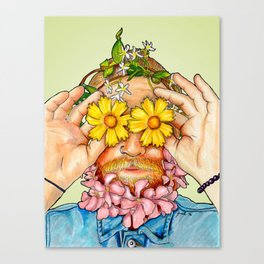 Boy In Bloom Canvas Print
