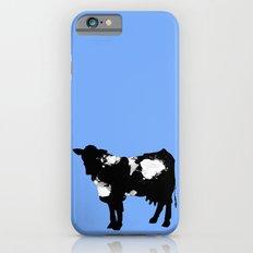Cow Black and White brush paint splash Slim Case iPhone 6s