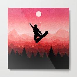 Snowboard Skyline I Metal Print