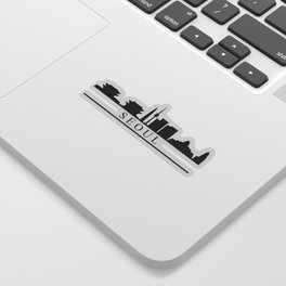 seoul skyline Sticker