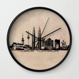 Kuala Lumpur skyline Wall Clock