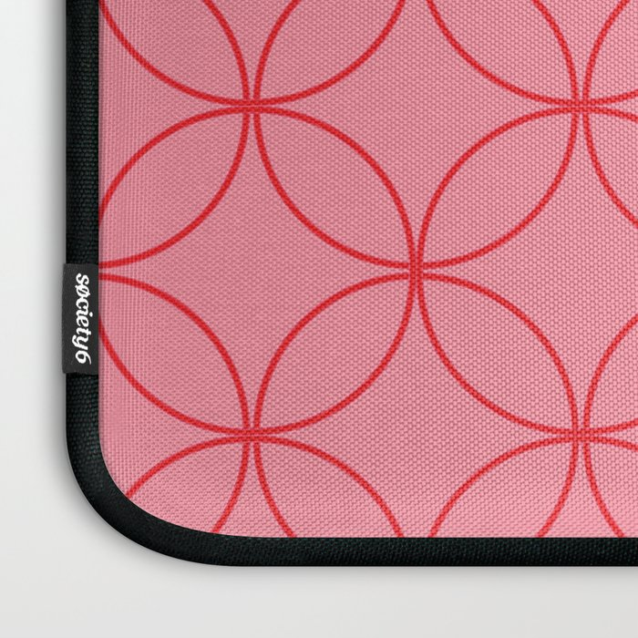 Moorish Circles - Pink & Red Laptop Sleeve