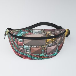 Abstract Holographic Iridescent Art 9 Fanny Pack