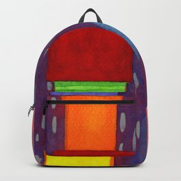 Colorful piled Cubes within free Painting Backpack