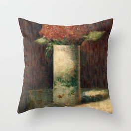 Georges Seurat - Vase of Flowers Throw Pillow