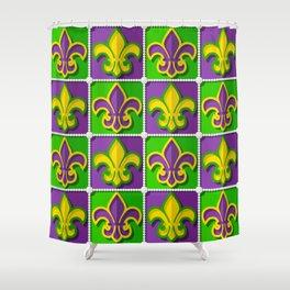 Mardi Gras  pattern Shower Curtain