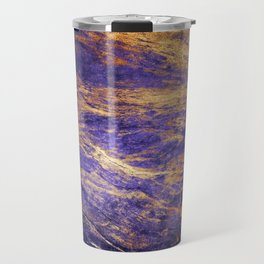 Classic Vintage Purple Faux Marble With Gold Veins Travel Mug