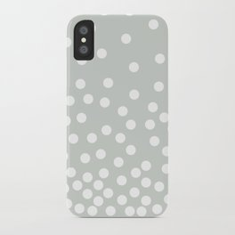Polka Dot Diffusion in Gray iPhone Case
