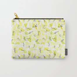 Green and black abstract pattern Carry-All Pouch