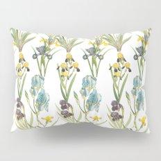 Vintage Floral Pattern | No. 2B | Iris Flowers | Irises Pillow Sham