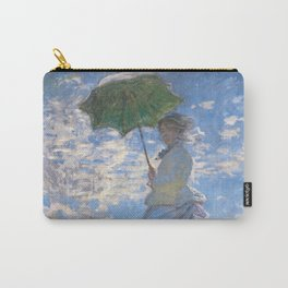 1875-Claude Monet-Woman with a Parasol - Madame Monet and Her Son-81 x 100 Carry-All Pouch