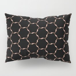 Thin Rose Gold Chain Pattern Pillow Sham