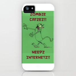 Zombie Catzez iPhone Case