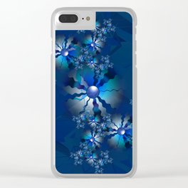 Blue Sweetness Clear iPhone Case