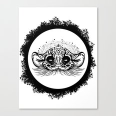 Half Cute Wild Cat Canvas Print