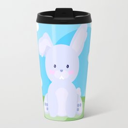 Bunny in country Travel Mug