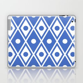 Harlequin Pattern Blue Laptop & iPad Skin