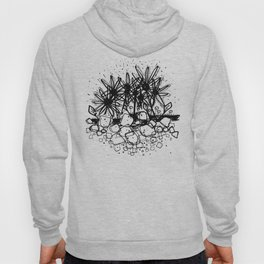 Scribble Doodle Flowers No.3A by Kathy Morton Stanion Hoody