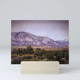 Mountains overlooking Colorado Springs, Colorado Mini Art Print